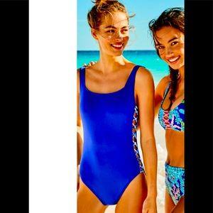 NWT Lilly Pulitzer MORRI CORSICA Lattice Swimsuit